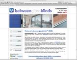 betweeen glass blinds website designed by alwaysinspired