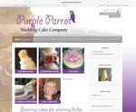 purple parrot wedding cakes website designed by alwaysinspired