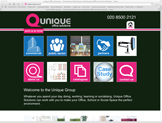 unique office solutions website designed by alwaysinspired